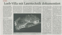 Loeb-Villa with laser technology documented